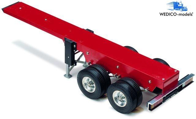 Standard-FG, 2-Achs Auflieger rot RAL3011 für Mulde