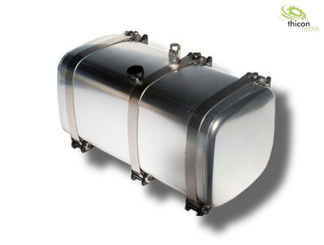 1 14 tank 108mm alu silber mit halterung thicon models. Black Bedroom Furniture Sets. Home Design Ideas