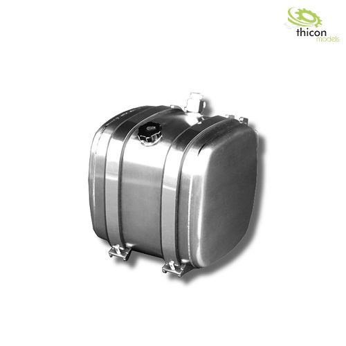1:14 fuel / hydraulic tank 52,5mm with tank holder alu
