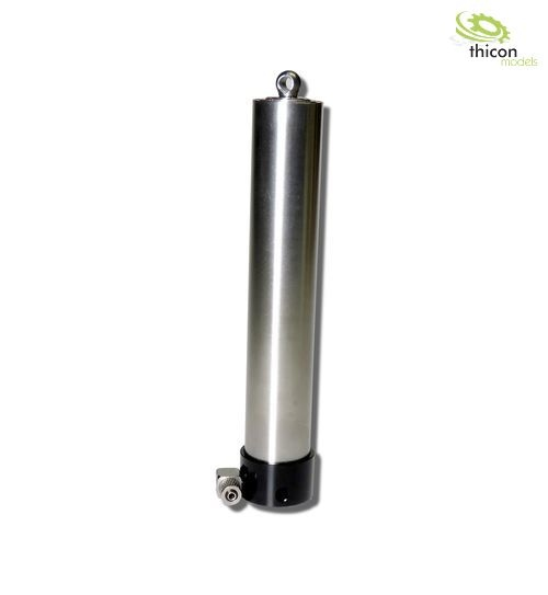 Hydraulic telescopic cylinder 130-495mm stainless steel
