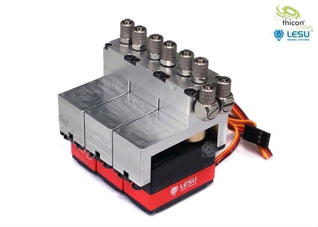 Hydraulic control valve aluminum 3-way with servos
