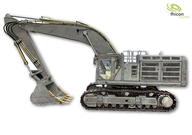1:14 Crawler excavator 74t kit stainless steel incl. hydraul