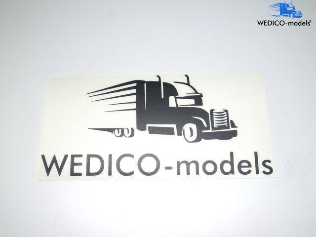 Aufkleber Wedico-models Logo schwarz geplottert 180x95mm