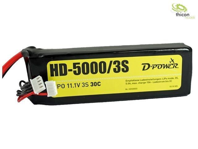 Hd-5000 3s LiPo  (11,1v) 30c-xt-60 connettore D-energia hd50003  risparmia fino al 70%