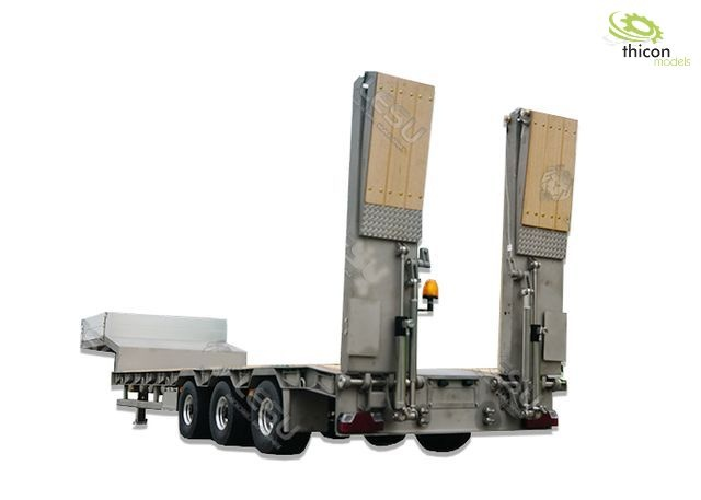 1:14 low loader trailer 3-axle with hydraulic ramps