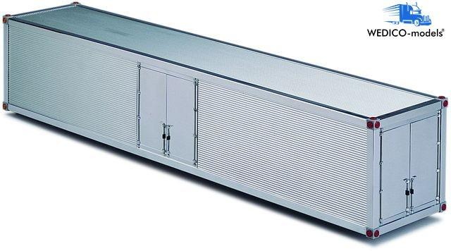 Container-Aufbau, für Auflieger poliert