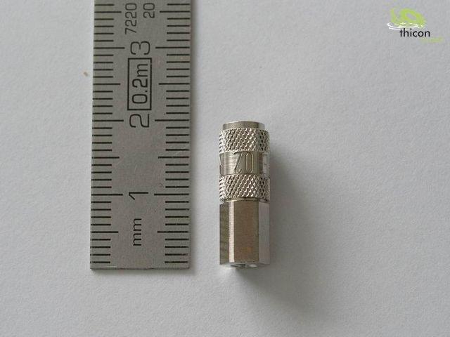Hydraulik Schnellkupplung mit Ventil absperrend M3 1 Stück