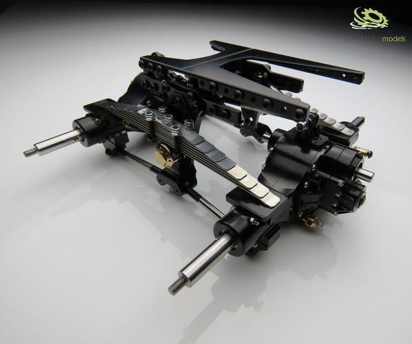 1:16 Pendelfederung-Set komplett mit Achsen und Kardanwelle