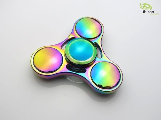 Fidget Spinner Premium Dreiblatt Multicolor Stahl