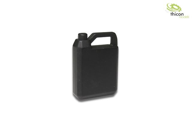 Oil canister 4L made of metal, black
