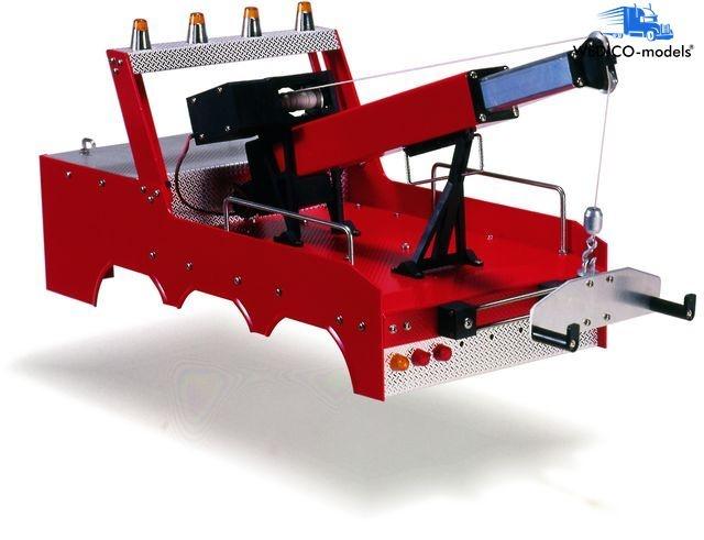 Kran-Aufbau, US-style.,rot, für FG 736