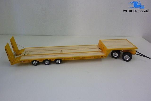 Tieflader-Auflieger/Anhänger Kombi gelb