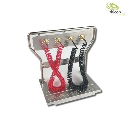 1:14 Druckluft-Geräteträger V2A mit Leitungen