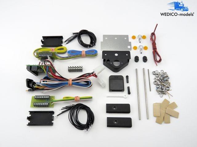 Impianto ELETTRICO  12v 6pol. per wedico-camion wedico-modellolos  promozioni di squadra