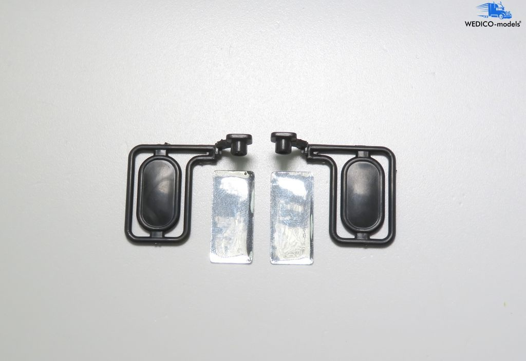 Cat 966 G II rearview mirror set with holder and mirror foil