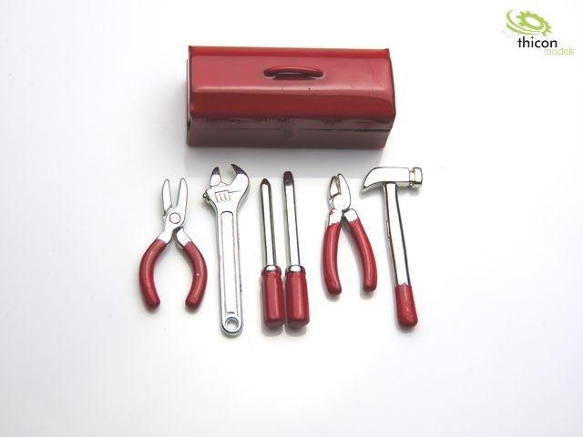 1:14 / 1:10 Werkzeugkasten Metall mit Werkzeuge