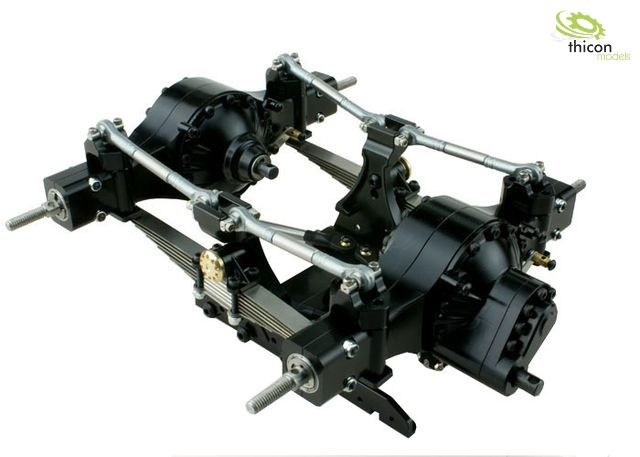 1 14 pendulum suspension v2 rear alu black for differentials thicon models. Black Bedroom Furniture Sets. Home Design Ideas
