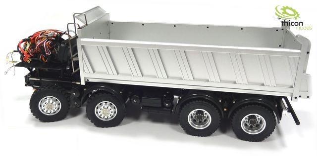 1:14 8x8 Hinterkipper mit Hydraulik für Tamiya-Fahrerhäuser