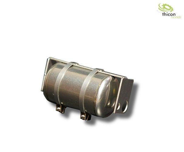 1:14 Druckluftkessel V2A mit Halter für Tamiya-Hecktraverse