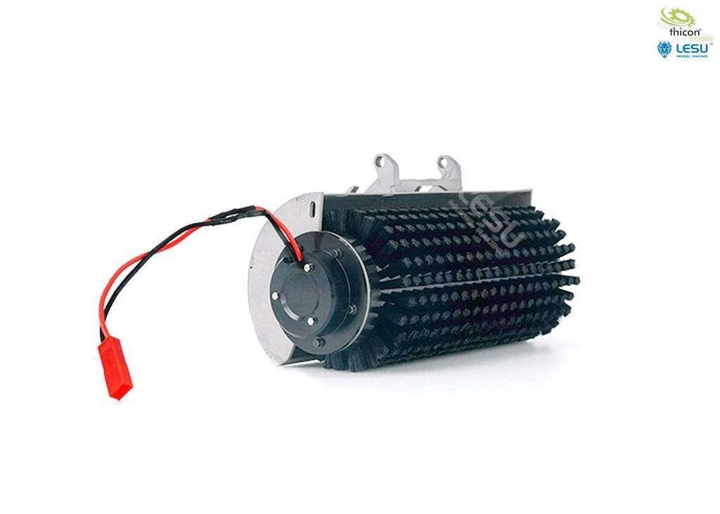 Electric rotary brush for skid steer loaders