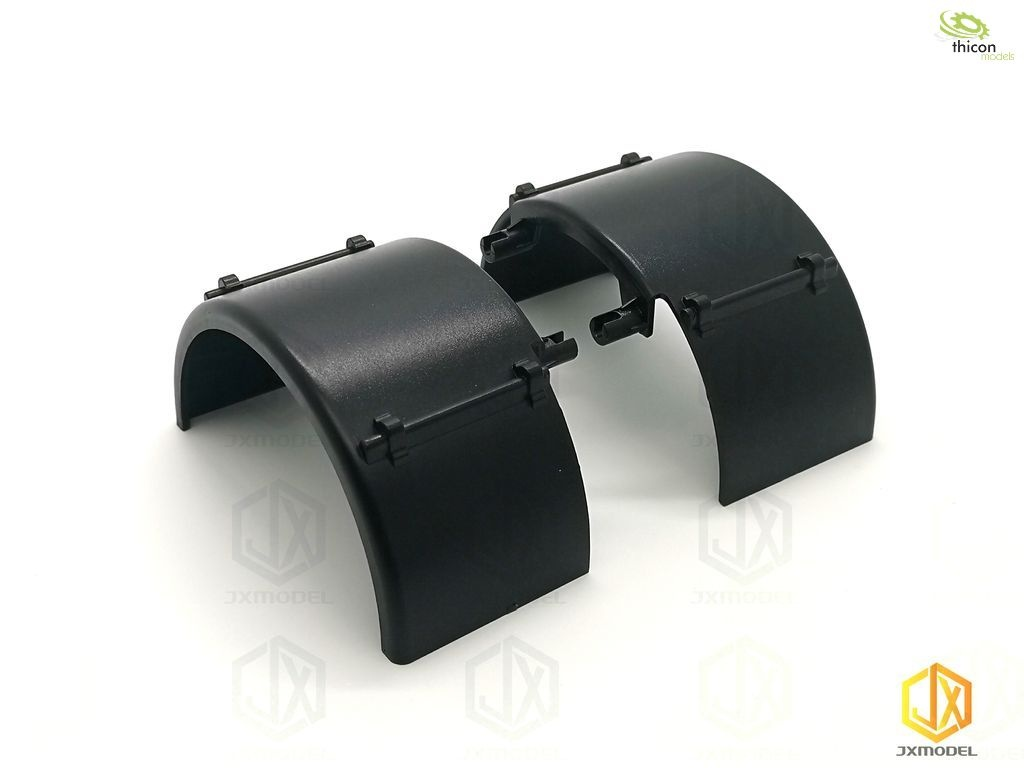 1:14 pair of plastic fenders