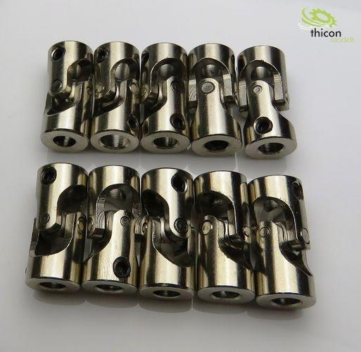 Kardangelenk Stahl 5/5mm 23mm lang 10Stück