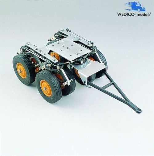 Tandem front axle, low-loader, steerable