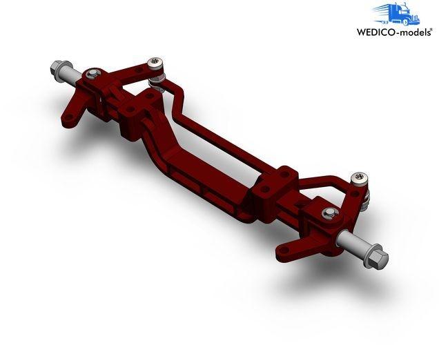 Aluminium-Vorderachse rot RAL3011