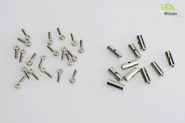 Spannschloss Messing vernickelt, Schaftlänge 17 mm 1 Stück