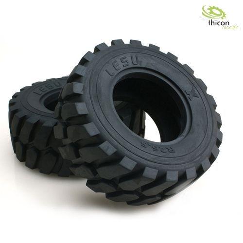 Radlader Reifen mit Edelstahl-Felgen Paar