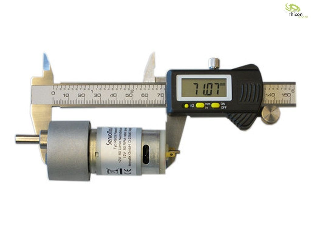 Power 120 Getriebemotor 12v 120u/min 37x72mm Welle 8mm