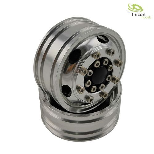 1:14 alloy wheels 6-hole oval front narrow for ball bearings