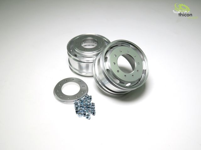 1:14 alloy wheels wide front without hub for front different