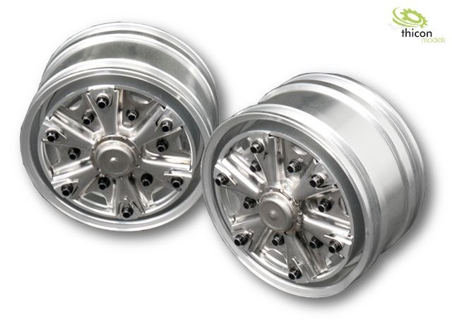 1:14 Classic star rim front aluminum for wide tires pair