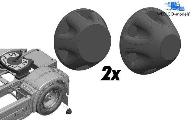 Hub cap black 4 pieces 3D