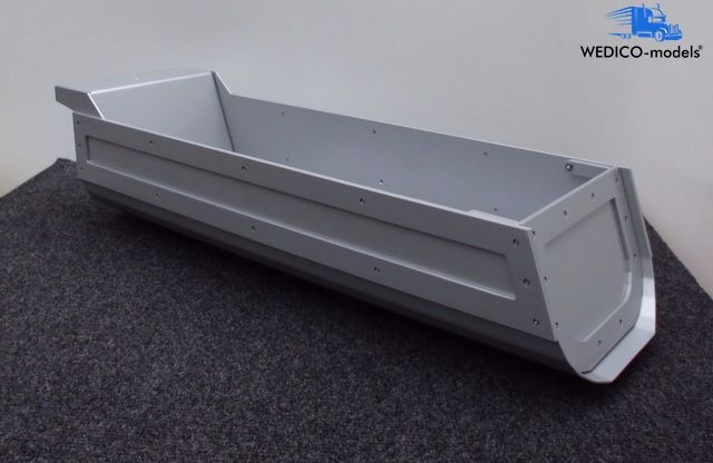 Dump body HP for semi-trailer, silver