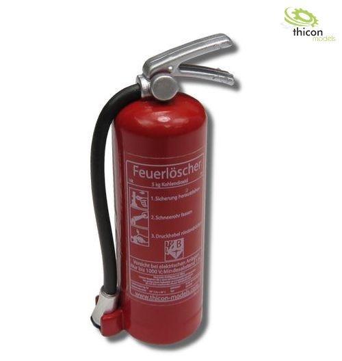 1:10 / 1:14 Feuerlöscher mit Aufkleber rot mit Halter