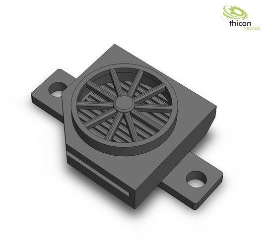 Klimaanlage universal V2 Lüfter schwarz