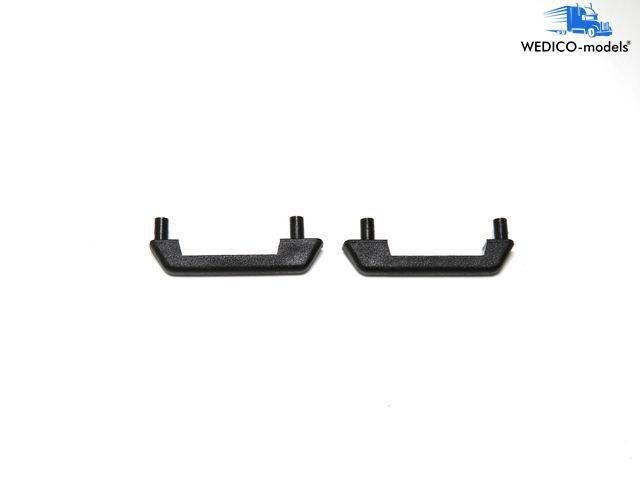 Universal handles black 2 pieces