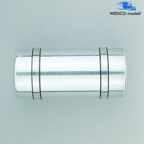 Tank rund, poliert, 105 mm lang