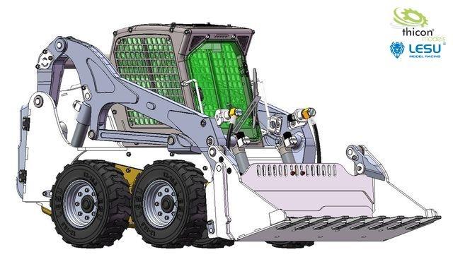 1:14 skid steer loader with wheels unpainted kit