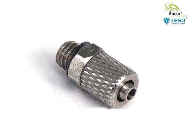 Hydraulik Anschluss-Nippel gerade M5 für 4/2,5mm Schlauch