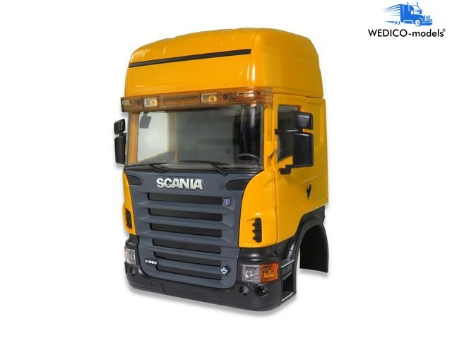 SCANIA cab TOPLINE, yellow RAL1007