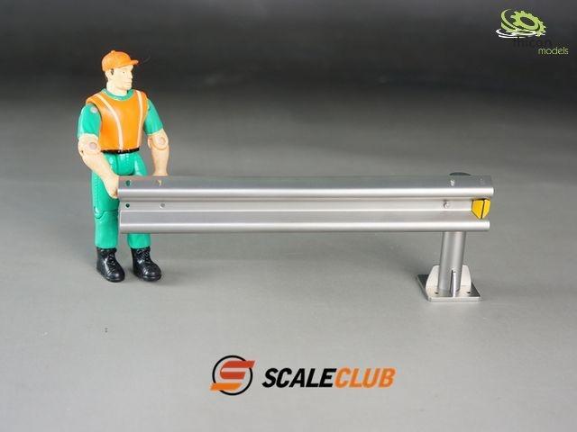 1:14 Deko-Leitplanke aus Metall Anbaustück zu 50304
