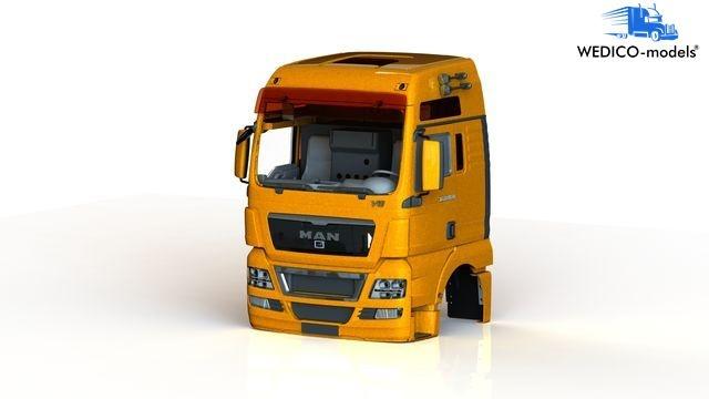 MAN TGX XXL-V8 Fahrerhaus, orange