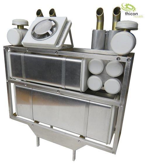 Schwerlastturm V2 Metall unlackiert für thicon/TAMIYA-LKW