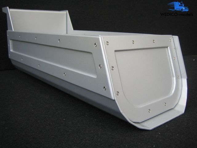 Dump body HP for Peterbilt 359, white
