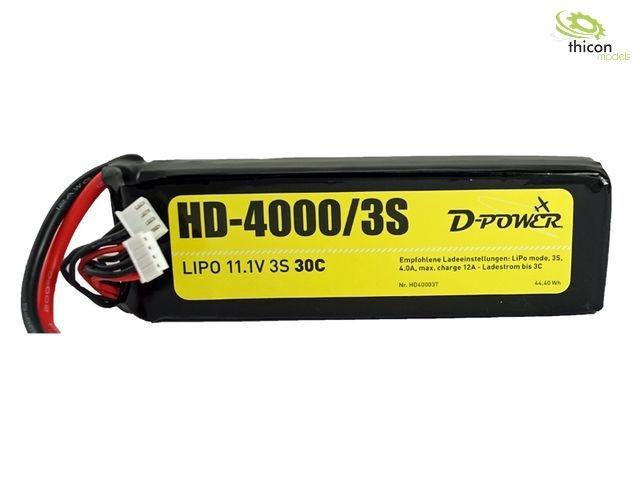 HD-4000 3S Lipo (11,1V) 30C - XT-60 Stecker