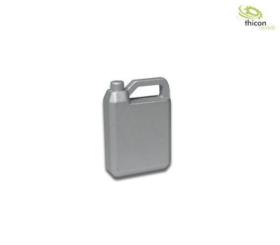 Oil canister 4L made of metal silver