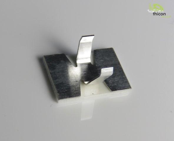 Kabelschelle klein selbstklebend Metall 8 Stück
